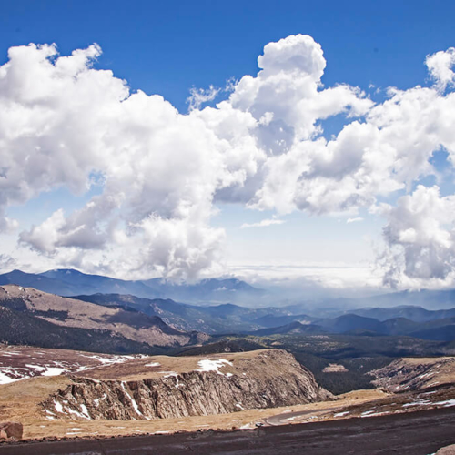 Clouds and Mountains from Mt Evans