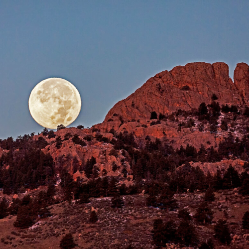 Full Moon and Horsetooth Rock 10×16 sharpened