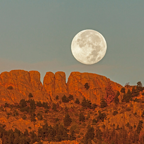 Full Moon and Horsetooth Rock