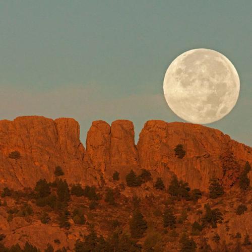 Full Moon over Horsetooth Rock
