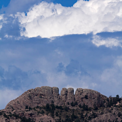Horsetooth and Clouds