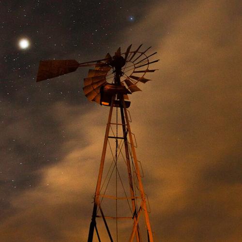 Moonlit Windmill