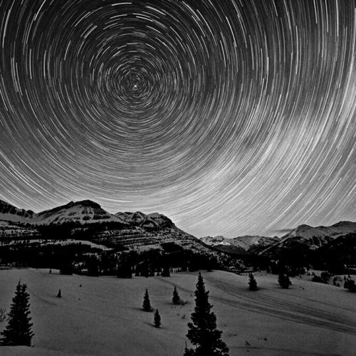 Star Wheel over Grand Turk and Bear Mountain Silverton BW