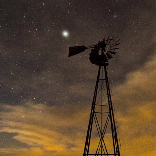 Stars, Windmill and Clouds 2