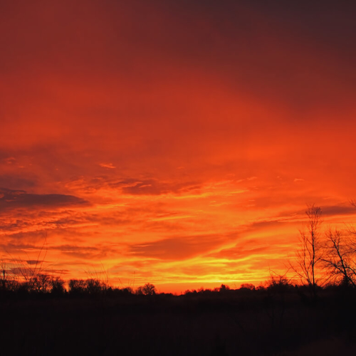 Sunrise at Riverbend Ponds