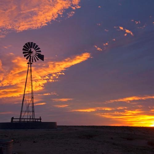 Sunrise and Windmill Pawnee