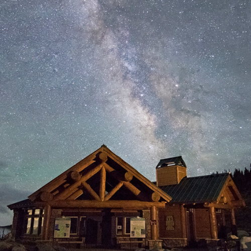 Visitor Center and Milky Way Mt Goliath