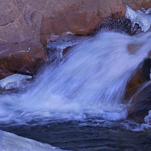 Waterfall detail Alluvial Fan RMNP